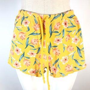 ❤️PINK sleepwear shorts floral waffle knit